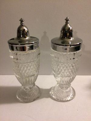 Pineapple Glass silver Salt and pepper for Sale in Kearns, UT
