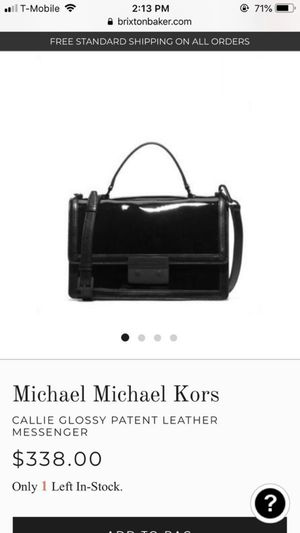 159140ab97b4 Michael kors patent leather gorgeous messenger bag for Sale in Bothell, WA
