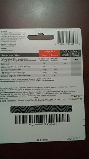 Microsoft office 365 for Mac for Sale in Arlington, VA