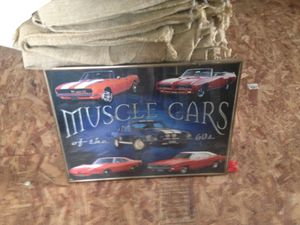 Muscle cars of the Sixties Framed poster 24 x 18.5 for Sale in Silver Spring, MD
