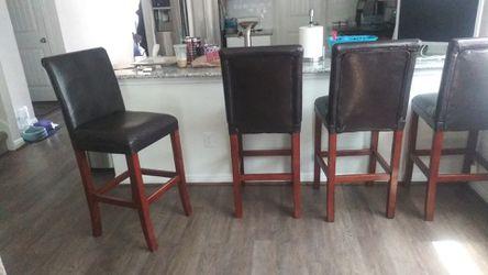 Set of 4 bar stools Thumbnail
