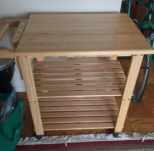 Wood bar cart rolling bar for Sale in Annandale, VA