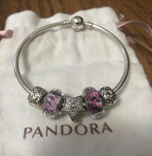Pandora bracelet with charms for Sale in Silver Spring, MD