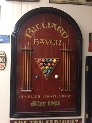 Billiards pool table wall art mini pool table for Sale in Brentwood ...