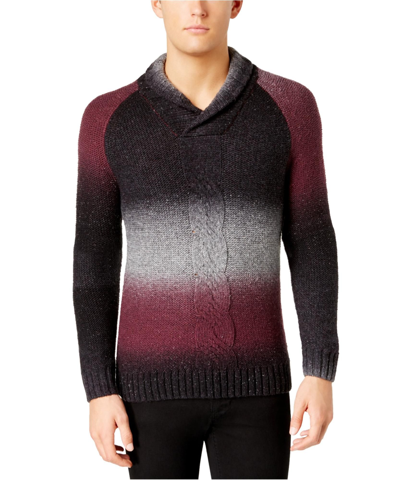 I-N-C Mens Ombre Pullover Sweater, Red, X-Large