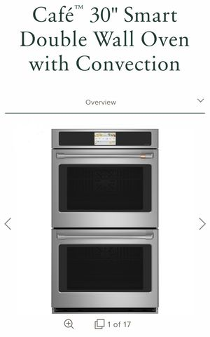 Photo Brand new double oven, stainless steel, WiFi capabilities, recipe storage, plus many other options