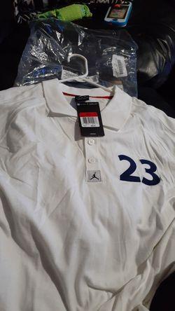 Brand new mens Jordan retro 12 white/royal blue polo shirt 30 obo Thumbnail