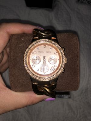 Photo Michael Kors Rose Gold Chain with Diamond Watch