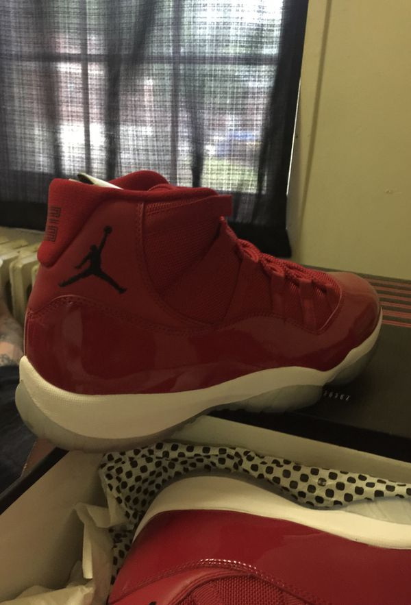 75fe4bb42ac6c9 Christmas red 11s retro Jordans size 10 1 2 for Sale in Boston