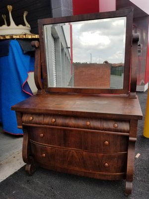 All wood chest, dresser with mirror Vanity,dresser,chest for Sale in Chantilly, VA