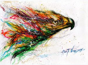 Eagle water color poster for Sale in Alexandria, VA