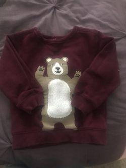 Carter's Burgundy Bear Sweatshirt 24M Thumbnail