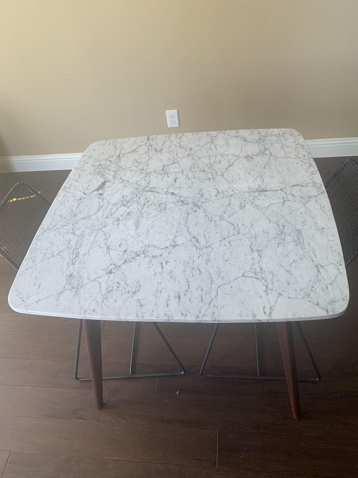 """Carson carrington 39"""" solid Carrara marble table"""