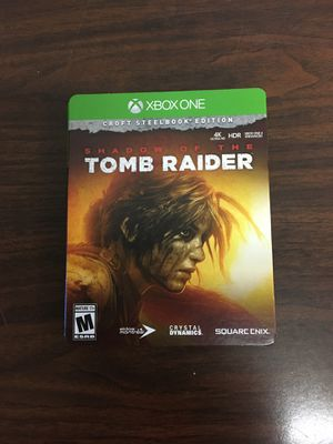Shadow of the Tomb Raider Steelbook edition for Sale in Alexandria, VA