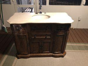 Legion Furniture Solid Wood Sink Cabinet with Marble Top for Sale in Eldersburg, MD