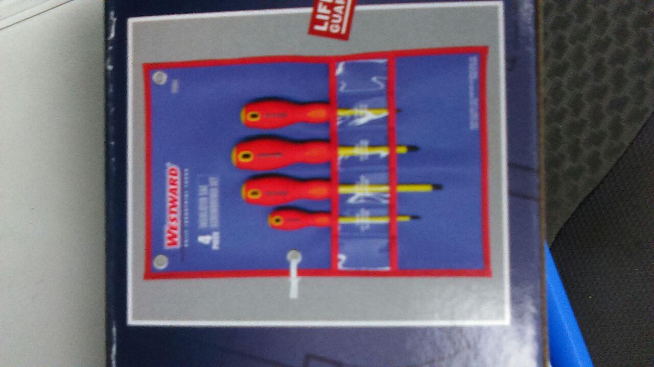 Westward insulated screwdriver set 4pc