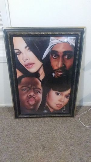 Rappers wall frame picture for Sale in Orlando, FL