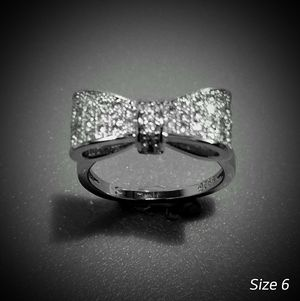 925 Sterling Silver White Sapphire Bow Tie Ring - Size 6 for Sale in Scottsdale, AZ