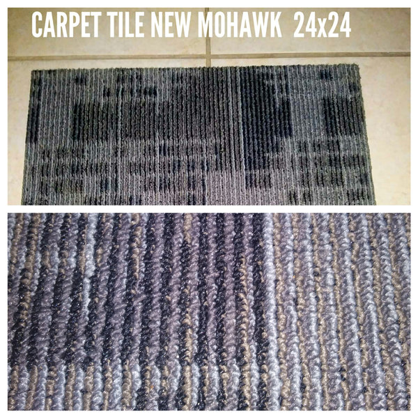 CARPET TILE MOHAWK NEW 4 BOXES 24 x 24 GREAT COLOR