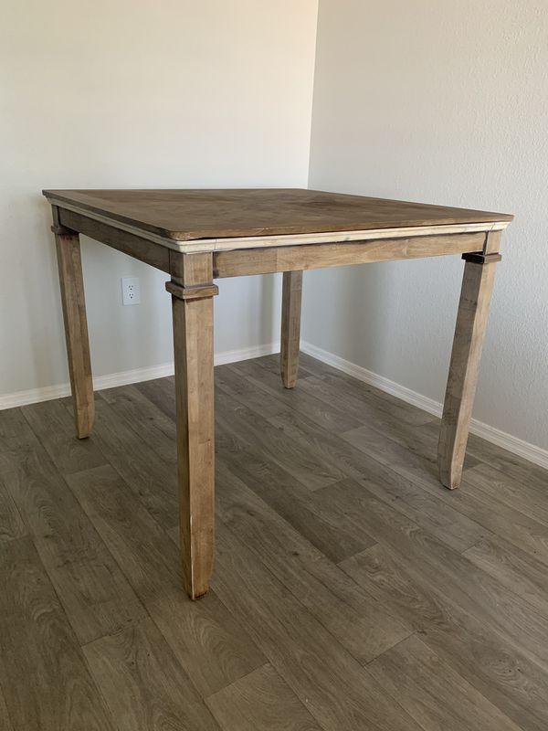 counterheight rustic dining table brand standard