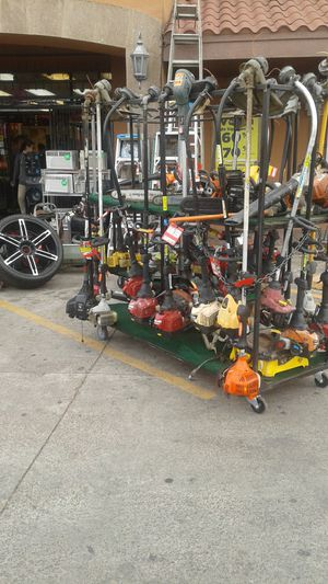 Photo Weedeaters, Lawnmowers, Compressor