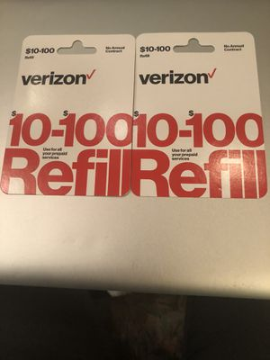 Verizon prepaid refill for Sale in McLean, VA