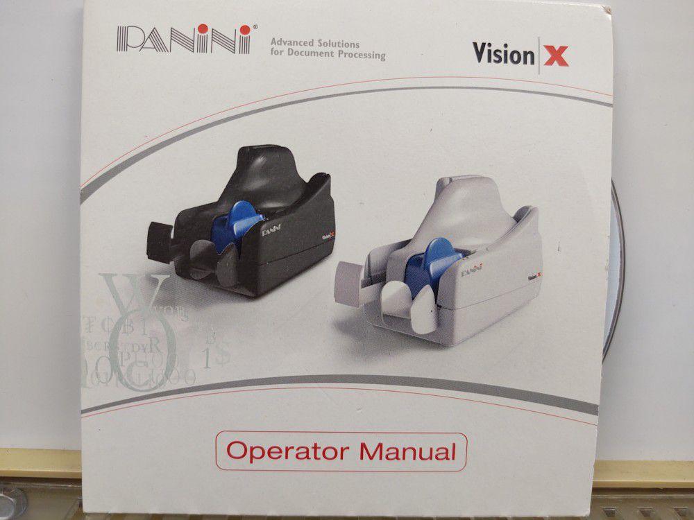 Panini Vision X Check Scanner