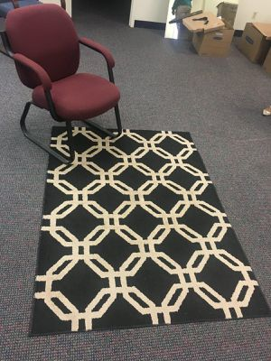 White and Black Rug for Sale in Silver Spring, MD