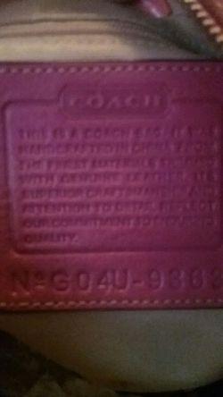 Awesome Pink Coach Purse Thumbnail