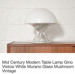 Photo ART GLASS VINTAGE 1970s MURANO MUSHROOM LAMP