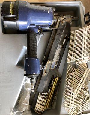 Framing nail gun, compressor, router + for Sale in Centreville, VA