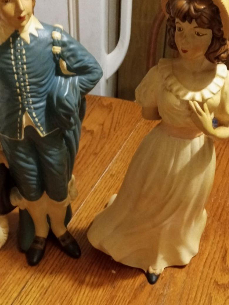 blue Boy And Wife Porcelain Figures