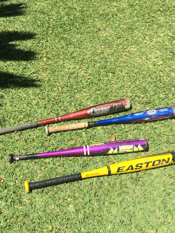 T-ball and softball bats