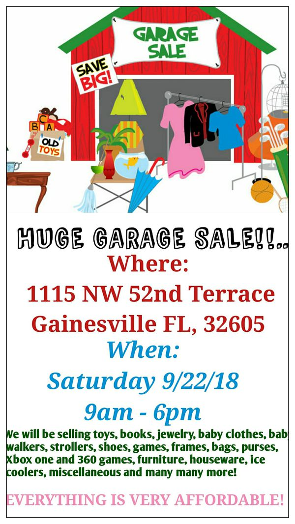 GREAT BIG GARAGE SALE!! for Sale in Gainesville, FL - OfferUp on gainesville gym, gainesville renewable energy center, gainesville mapquest, gainesville florida shopping, gainesville va, gainesville wisconsin, gainesville homes, gainesville tx, gainesville florida mall, gainesville ga fire department, gainesville ga counties, gainesville times, gainesville wi, gainesville high school, gainesville state, gainesville florida county, gainesville tn, gainesville ny, gainesville beaches, gainesville bat cave,