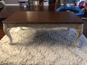 Antique Style Coffee Table + Side Table for Sale in Cary, NC