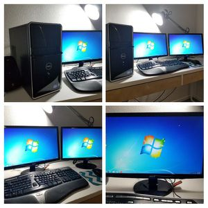 DELL Core i3 Desktop home or business Computer with 2 Displays/Monitors for Sale in San Diego, CA