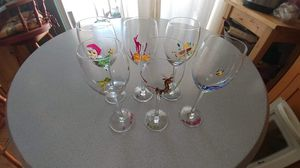 6 collection Christmas glasses for Sale in West Valley City, UT
