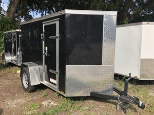 2019 5x8 Diamond Cargo Enclosed Trailer Rear Ramp w/ Door for Sale in Tampa, FL