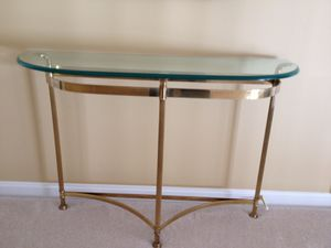 Hallway brass table and mirror for Sale in Leesburg, VA