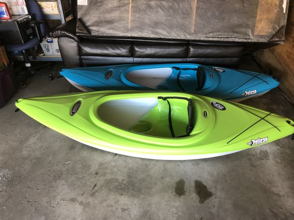 Two Pelican Kayak w paddles Q2 for Sale in Johnsburg, IL - OfferUp