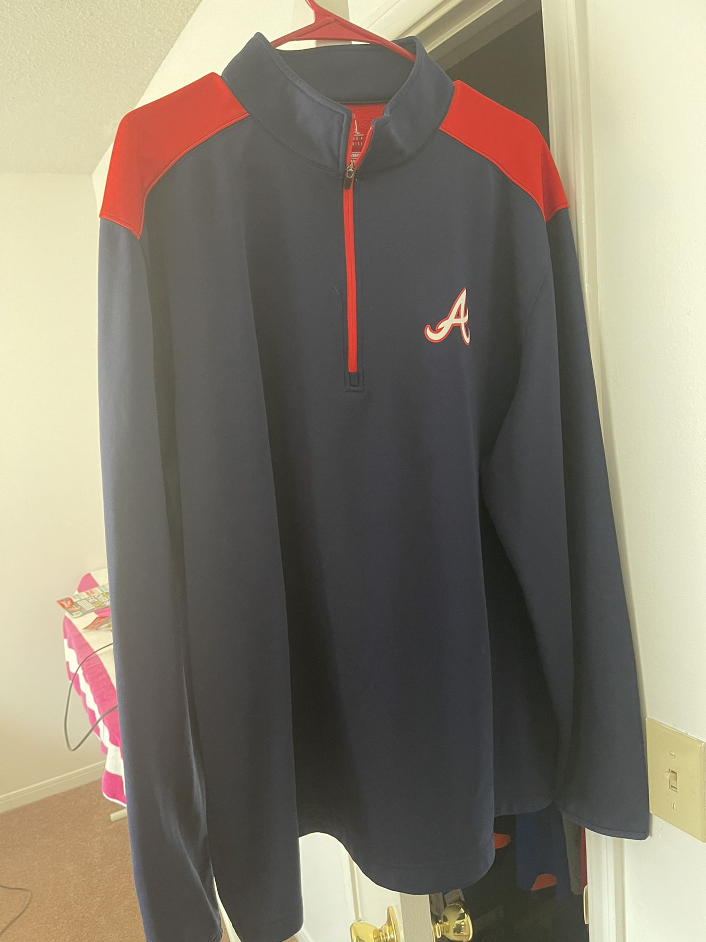 Men's Atlanta Braves Pullover 2xl