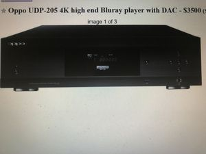 Oppo UDP-205 4K high end ultra HD Blu-ray player with DAC for Sale in Sammamish, WA