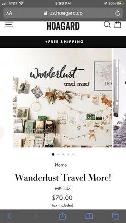 Adorable & Brand New Metal Wanderlust Wall Decor Thumbnail