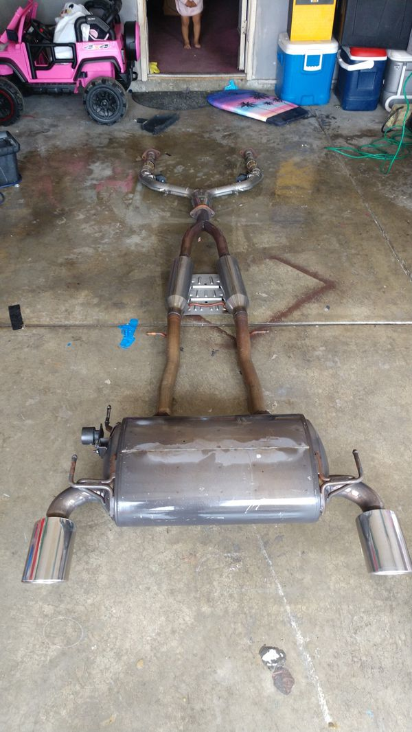G37 coupe full exhaust y-pipe mid pipe & muffler for Sale in Pittsburg, CA  - OfferUp