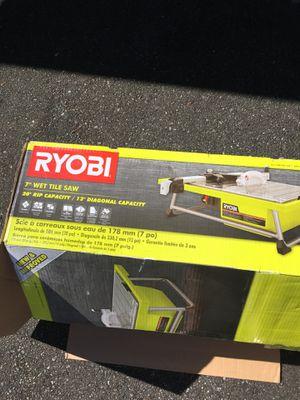 "Ryobi 7"" wet tile saw for Sale in Kirkland, WA"