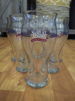 Set of Sam Adams 16oz pint glasses Thumbnail