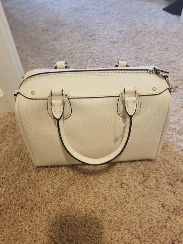 2255f85417fd Coach Mini Bennett Satchel Crossgrain Leather Handbag Chalk for ...