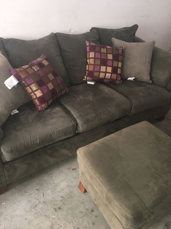 Awesome Sage Green Couch And Single Chair Plus Ottoman Price Negotiable For Sale In Raleigh Nc Offerup Pabps2019 Chair Design Images Pabps2019Com