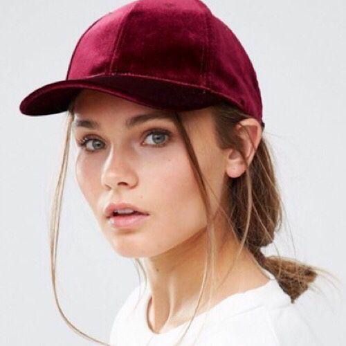 8beb053fe1b8c Burgundy Red - Suede Velvet - Baseball Cap (Hat) - Urban Outfitters + Asos
