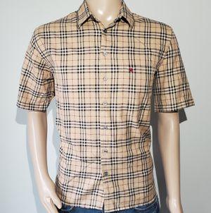 Photo Men's Burberry London Shirt Button Down Nova Check Large Plaid